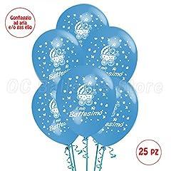 Idea Regalo - Palloncini Battesimo Azzurrro addobbi e decorazioni per feste party confezione 25pz