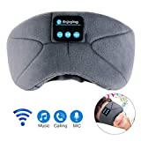 Bluetooth Sleep Eye Mask with Headphones,WUMINGLU Upgrade Wireless Bluetooth Sleeping Headphones Handsfree Music