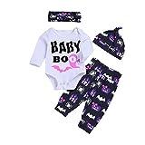 SEWORLD Baby Halloween Kleidung,Niedlich Infant Baby Mädchen Jungen Brief Print Strampler Stirnbänder Hosen Cap Halloween Outfits 18 Monate