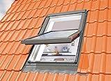 Optilight Dachfenster mit Eindeckrahmen flach & Dauerlüftung - 55 x 78