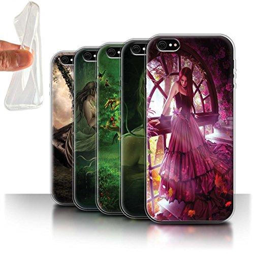 Officiel Elena Dudina Coque / Etui Gel TPU pour Apple iPhone 6S+/Plus / Par le Vent Design / Un avec la Nature Collection Pack 15pcs