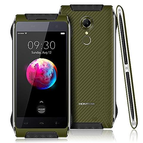 HOMTOM HT20 Pro Outdoor Smartphone- 4G FDD-LTE 4,7 Zoll Android 6.0 IP68 1.3GHz Octa Core 3G RAM + 32G ROM 8MP + 16MP Kamera 3500mAh Wasserdicht Staubdicht Schock-resistent, Ohne