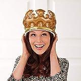 xMxDESiZ Geburtstagsparty-Hut mit Foto-Requisiten, aufblasbare Krone König Königin Kostüm