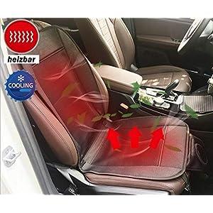 Big Ant Sitzbezüge Auto heizbare Sitzauflage beheizbare Sitzkissen Auto mit Belüftung und Heizung Funktion Klima Sitzauflage 12V für Auto Bürostuhl (1 Stück)