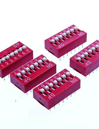 K-NVFA 7 posiciones bricolaje interruptores DIP paso