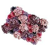 non-brand Sharplace Künstliche Blumen Säule Wand Panel für Garten Hochzeit Dekor - # 2, 60 x 40 x 9 cm