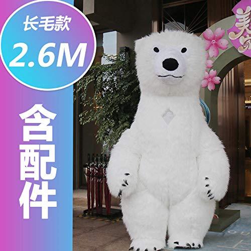 YYYDHW Giant Panda Cartoon Doll Kleidung Net Cartoon Doll Kostüm Puppe@Eisbär 2,6 m_Eine - China Doll Baby Kostüm