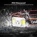 OMERIL-Lampada-Frontale-LED-USB-Ricaricabile-Lampada-da-Testa-con-5-modalit-di-Illuminazione-IPX5-Impermeabile-Torcia-Frontale-Bambini-e-Adulti-Luce-Frontale-per-Campeggio-Corsa-Pesca-Ciclismo