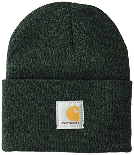 Carhartt Herren Acrylic Watch Hat Hut für kaltes Wetter, Hunter Grün/Schwarz, Einheitsgröße