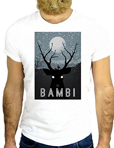 T SHIRT Z1119 DEERS FUN ANIMAL COOL VINTAGE BAMBI USA AMERICA LITTLE DEER BUSH GGG24 BIANCA - WHITE XL (T-shirts Bush)
