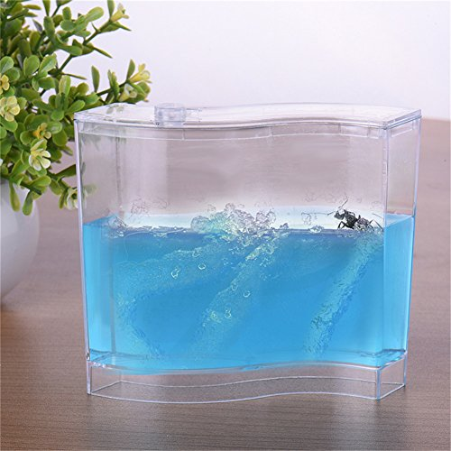 TAONMEISU™ Labyrinthe Acrylique Vivarium Fourmis Gel Nutritif en Bleu Habitat de Fourmis Taille L