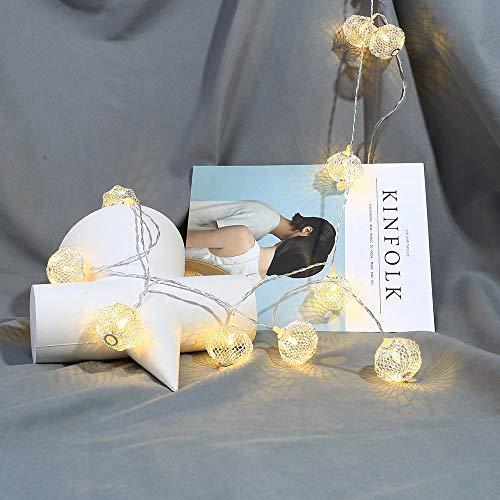 Prevently LED Lichterkette, 1 Meter 10 LED Glühbirne Lichterkette Außenbeleuchtung für Garten, Party, Hochzeit, Weihnachten (White)