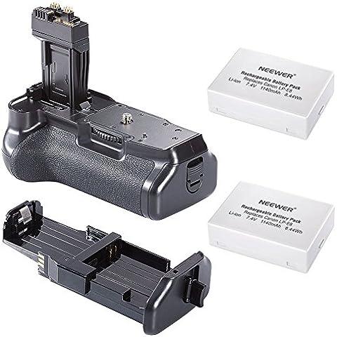 Neewer-Pro-Batteria di ricambio per Canon EOS 550D/600D/650D/700D/Rebel T2i T3i, T4i, T5i 2 batterie LP-E8
