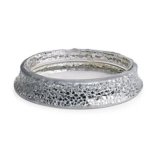 Home Treats Silver Mosaic Soap Dish