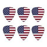 Vereinigten Staaten von Amerika USA American Flag Neuheit Gitarre Plektrum Plektron Picks Stärke Medium–Set of 6