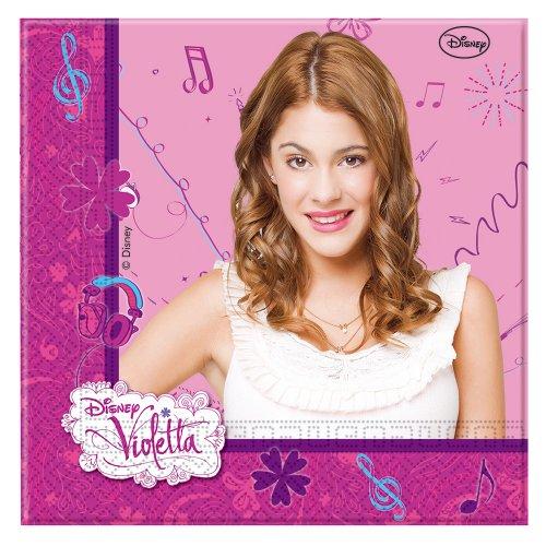 Disney Violetta Papier Servietten, 20Stück