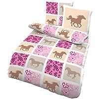 Baby Bettwäsche Garniturset doppelseitig 2 teilig Wolken grau rosa 2 Größen