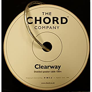 3 Metre Chord Clearway Speaker Cable, Single Length Cut To Order From A New Drum, Chord Official Agents.