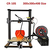 Creality CR-10S 3D Printer Filament Monitor Dual Z Rod Axis Upgrade Printing Size 300x300x400mm by Luxnwatts(Orange)