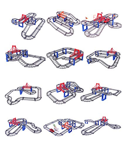 Szeao Motorisierte Raceway Set, Thomas die Lokomotive Minis Spielzeugeisenbahn Zubehör-Set,Grau