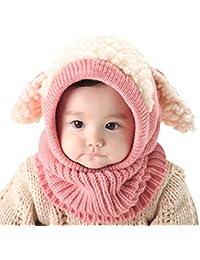 LinQuick Winter Baby Kinder Mädchen Jungen Warme Wollene Haube Schal Mützen Hüte