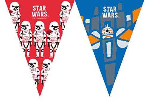 Generique - Girlande 9 Wimpel Star Wars Kräfte 2,3 mx 25 cm (Banner Party Star Wars)