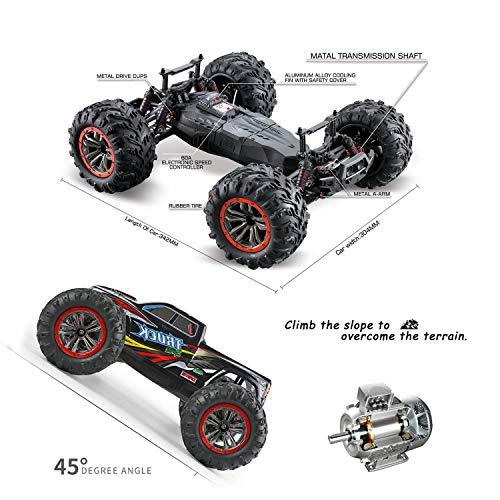 RC Auto kaufen Monstertruck Bild 4: s-idee® 18173 9125 RC Auto 1:10 4WD Buggy wasserdichter Monstertruck mit 2,4 GHz ca. 50 kmh schnell, Zwei Motoren, wendig, voll proportional 4WD ferngesteuertes Buggy Racing Auto*
