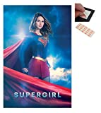Bundle - 2 Items - Supergirl Kara Zor-El Poster - 91.5 x 61cms (36 x 24 Inches) and a Set of 4 Repositionable Adhesive Pads For Easy Wall Fixing