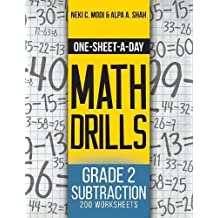 One-Sheet-A-Day Math Drills: Grade 2 Subtraction - 200 Worksheets (Book 4 of 24)