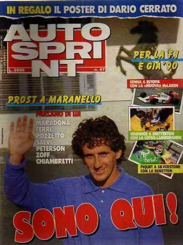 Autosprint Auto Sprint 47 Novembre 1989 Prost, Senna, Warwick, Piquet