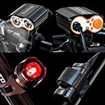 Nestling-Luci-per-Bicicletta-Luci-LED-per-Bicicletta-Ricaricabili-USB-Set-luci-Bici-Impermeabili-IP65Luce-Bici-Anteriore-e-Posteriore-Super-Luminoso-Luce-Bici-LED-per-Bici-Strada-e-Montagna