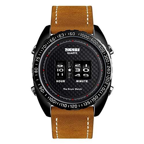 Innovative modische Quarz-Uhr Herren Ledergürtel Uhr
