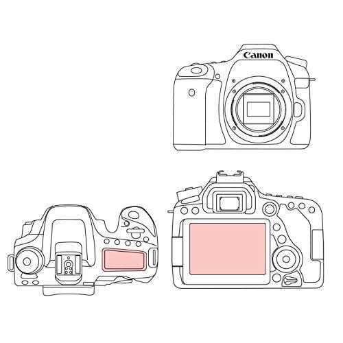 Martin Fields Overlay Plus Protecteur d'Écran Avec Revêtement Dur Avancé En Verre Pour Canon (EOS 80D / 70D)