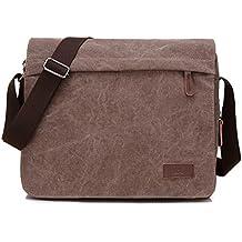 Young & Ming - Hombre Men lona Bolso maletín bandolera Bolso bolsos Handbag Messenger bolsa la computadora oficina