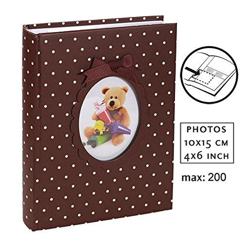 Young Child Fotoalbum für 200 Fotos in 10x15 cm Baby Kinder Foto Album: Farbe: Braun - Digitale Baby-foto-album