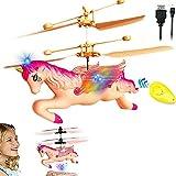 Volare Drone Kids Toy, Giocattolo dei Bambini Elicottero Pegaso del Fumetto, Fun Gadgets delle Ragazze Adolescenti, Puzzle Memoria Interattivi Formazione Gioca
