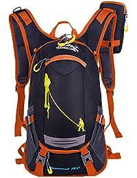 newzcers 20L Unisex Agua Densidad Nylon Mochila Bicicleta Casco Mochila exterior Riding Pack Ciclismo funda, con un paquete de Multi–Funda multifunción, naranja