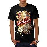 motocross Dérive Auto Voiture motocross Ventilateur Men L T-shirt | Wellcoda