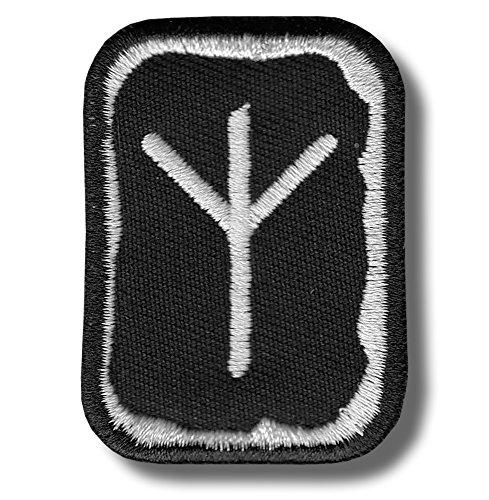 Algiz rune - bordado parche, 4 X 5 cm