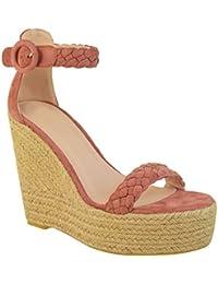 Sandales compensées - espadrilles à talons hauts/brides - été/soirée - femme