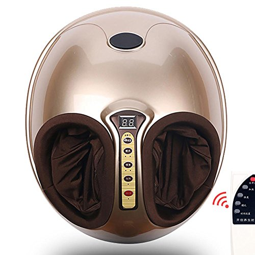 Tief Kneten Fußmassagegerät (YUSHI Fußmassagegerät Elektrischer Shiatsu Fußmassage Tief Kneten Luftdruck Rolling Vibrationsmassage)