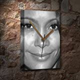 THANDIE NEWTON - Canvas Clock (A5 - Signed by the Artist) #js001