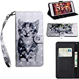 BONROY Xiaomi Redmi Note 5 Pro Case, Wallet Case Soft PU Leather Notebook Design Case with Kickstand Function Card Holder and ID Slot Slim Flip Protective Cover-(TX-cat)