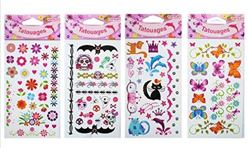 lot-de-4-plaque-de-tatouages-temporaires-fille-fleur-papillon-animaux-tatoo