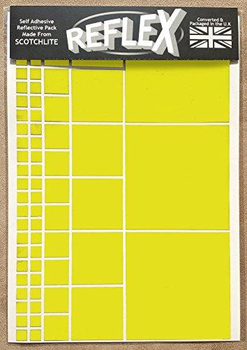 Scotchlite 3 m -Reflexstreifen Reflex Sticker, A4, kariert Gelb gelb A4