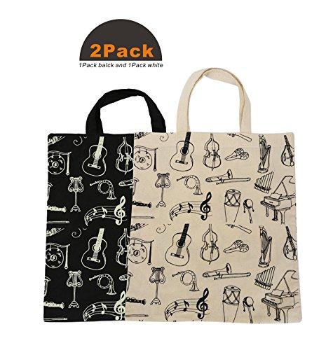 Handmade Tote Handtasche (Action Cloud Music Element Tasche, Baumwolle Tasche, Handtasche Schulter Einkaufstasche Geschenk MG-327 2Pack)