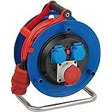Brennenstuhl Garant CEE 1 IP44 Kabeltrommel (25m - Spezialkunststoff, Einsatz im Außenbereich, Made In Germany) blau