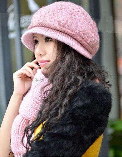 Generic - Ensemble bonnet, écharpe et gants - Fille Rose