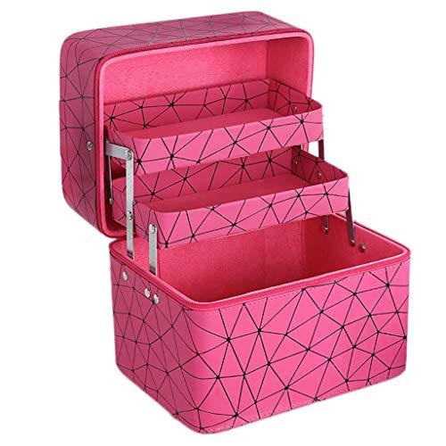 Boîte de Rangement Portable Simple Portable (Color : Red, Taille : L)