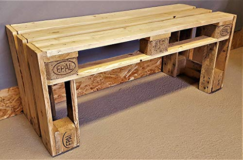 Bank aus Palette Holzbank vintage Gartenbank Esstischbank industrial Bank Shabby Chic Palettenbank antik Palettenmöbel altholz